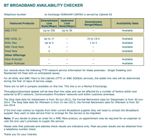 BT Availablity Checker Web